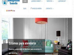 Nuevo diseño Web de Inmogestion Tenerife
