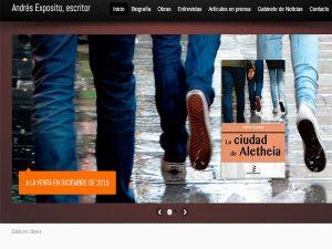 Creación de la página Web Andrés Expósito