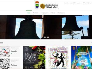 Diseño de la nueva Web del Ilustre Ayuntamiento de Villa de Arico